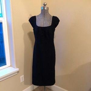 Banana Republic black wool dress SZ 6 EUC